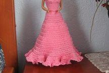 Crochet Barbie dresses for Abby