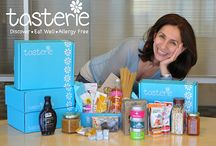 TasterieBox - delicious vegan and allergy-free foods and snacks / Healthalicious, Vegan, Gluten-free, Nut-free, Dairy-free or other Allergy-free foods/snacks. TasterieBox curated for YOUR dietary needs delivered monthly at your doorstep. Try us at www.tasterie.com / by Tasterie .com