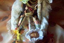 -ANGELS AND DOLLS made of materials- / Anioły i lalki uszyte z materiałów,- moje prace