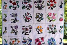 Quilting: - Applique quilt / Ideas for my quilts (and the bonnet ladies)  things that will combine with embroidery.