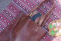 Leather Quill Tote Bags