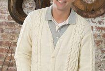 knitted men cardigan