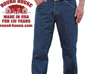 Made in USA Jeans and Workwear for 110 Years / Jeans and workwear that have been made in America since 1903 by the largest and oldest maker of USA Made denim products. / by Round House American Made Jeans