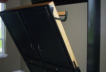 Murphy Beds! / Space savers..for a variety of rooms in our home - den, basement, office, etc.  We love them!