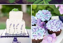 Vintage purple and greenery