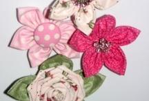 Fabric flowers / by Jessica Johnson