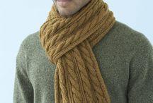 mens aran scarves