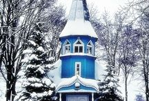 Winter in Lithuania / Snow, Christmas mood and everywhere white - this is real winter in Lithuania