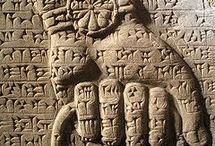 Mesopotamia art Nineveh - Assur - Nimrud - Ur - Uruk - Lagash - Nippur - Larsa - Baghdad / Nineveh - Babylonian art -  Assyrian - Sumerian - Assur - Nimrud - Ur - Uruk - Lagash - Nippur - Larsa - Mari - Baghdad - Girsu - Chlorite bull lion vase