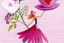 Hjärt- och blomflickor