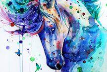 Pferde und Einhörner