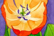 Blomst maleri