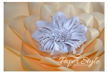 Paper Style / Paper decor paper flowers, wedding decor