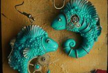Steampunk design / I love you original design, steampunk jewelry and decorations.