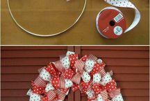 wreaths, mosaic, hearts - handicraft ideas