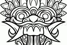 Balinese drawings