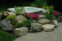 Hot Tub Ideas / Hot Tub decor ideas to make your hot tub blend in with your yard.