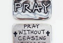 Scripture Verse Pocket Tokens/Reminders / Remember God's promises as you carry words of hope, peace, forgiveness, strength, perseverance, and faith with these solid pewter inspirational pocket tokens.  Made in the U.S.A.