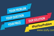 Post Your Problem / Post any problem related to career, marriage, relationship, education, finance etc. at www.izofy.com and get solution at your own preferred price from India's top experts.
