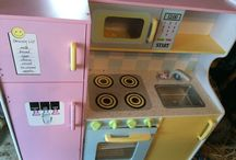 Play kitchen overhaul! / Taking a kitchen we got for free from drab to fab! / by Jaymee Kees