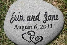Wedding & Special Occasion stones / Engraved stones personalized for any occasion. Wedding gifts that mark the special date, oathing stones, wedding favours, portraits engraved in stone, birthday gifts, mothers day, fathers day, you name it we make it.