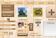 Wood design / WOOD webdesign by webTrendező / A webTrendező által létrehozott WOOD design alapon nyugvó látványvilág
