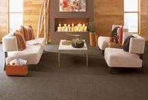 Carpeted rooms