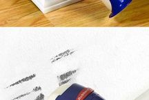 Rubbermaid paint buddies / Vieze muur