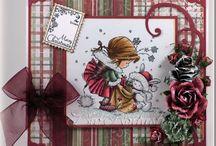 Cards - Nellie Snellen stamps etc