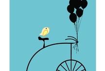grafiki rowery balony