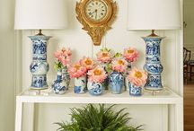 White and blue jars and vases