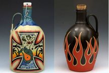 """Growlers (LiquorList.com) / Check out these custom and unique beer growlers! Find your own at www.LiquorList.com """"The Marketplace for Adults with Taste!"""" @LiquorListcom   #LiquorList.com"""