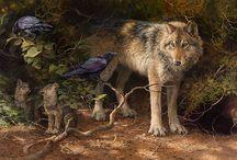 Wildlife art: Bonnie Marris / Schilderijen van Bonnie Marris, www.artifactsgallery.com