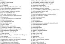 Things to do with your kids