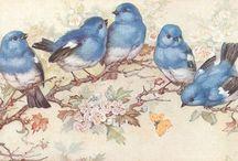 Птицы|Картинки для декупажа