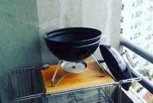 Comida Boa Muda Tudo Quem disse que em apto pequno não rola churrasco? Aqui temos com essa churrasqueira de mesa.  #bomdomingo #comidaboamudatudo  #churrasco