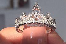 Crown wedding rings