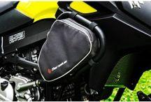 Motorcycle crash bar bags