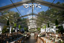 Clear Top Wedding Tent - Kennebunkport, Maine / Leavitt and Parris provided a clear top structure with a raised level floor with wide plank pine boards in antique walnut finish.  Leavitt and Parris also provided the extensive lighting, power, draperies, and upholstered furniture.