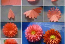 papier bloemen