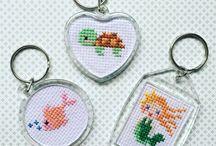 cross stitch keychains