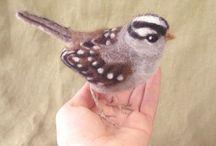 Gefilzte Vögel - Felted Birds