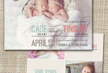 Twins Birth Announcement / Do you need some ideas to announce the pregnancy of your twin, triplets, quadruplets or more! Here are some ideas from our community at Multiplesandmore.com
