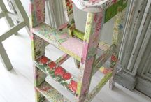 decoplouge old stool with napkins
