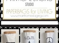 PAPERBAG for LIVING -  MAIN HOME STAGING STUDIO / Bei DaWanda- MAIN HOME STAGING Studio  Trendige Ordnungshüter für Zuhause oder fürs Büro.
