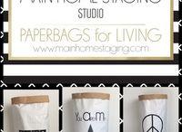 PAPERBAG for LIVING -  MAIN HOME STAGING STUDIO / Bei DaWanda- MAIN HOME STAGING Studio  Trendige Ordnungshüter für Zuhause oder fürs Büro.