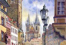 miasta -rysunek ,grafika.......