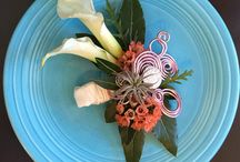 Costal country chic wedding / Spring wedding corals and garden herbs