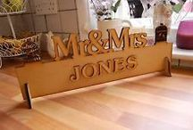 Wedding Signs / Personalised Custom made Mr&Mrs Signs!