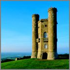 Broadway Tower / Broadway Tower is one of England's outstanding viewpoints and at 1024 feet (312m) above sea level, it is the second highest point on the Cotswold escarpment. Unrivalled views survey an expanse of a 62 mile radius and as many as 16 Counties.